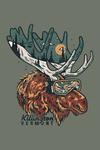 Killington, Vermont - Ski Moose - Lantern Press Artwork