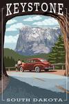 Keystone, South Dakota - Tunnel Scene - Lantern Press Artwork