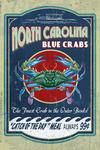Outer Banks, North Carolina - Blue Crabs - Vintage Sign - Contour - Lantern Press Artwork
