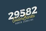 Outer Banks, North Carolina - Zip Code - Local Love - Navy - Lantern Press Artwork