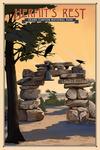 Grand Canyon National Park, Arizona - Hermits Rest - Lithograph National Park Series - Lantern Press Artwork