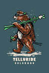 Telluride, Colorado - Ski Bear - Lantern Press Artwork