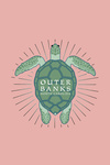 Outer Banks, North Carolina - Sea Turtle Outline - Contour - Lantern Press Artwork