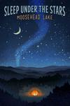Moosehead Lake, Maine -  Sleep Under the Stars - Tent & Night Sky - Lantern Press Artwork