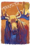 Minnesota - Vivid Moose - Lantern Press Artwork