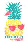 Orlando, Florida - Tropicool - Pineapple - Contour - Lantern Press Artwork