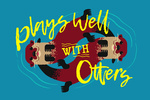 Plays Well With Otters - Otter Geometric - Lantern Press Artwork