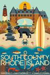 South County, Rhode Island - Geometric - Lantern Press Artwork