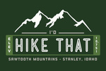 Stanley, Idaho - I'd Hike That - Sawtooth Mountains - Contours - Lantern Press Artwork
