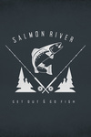 Salmon River, Idaho - Get Out & Fish - Trout & Fly Fishing Rods - Contour - Lantern Press Artwork