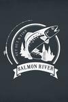 Salmon River, Idaho - Get Out & Fish - Trout & Trees - Contour - Lantern Press Artwork