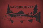 Stanley, Idaho - Salmon River - Trout - Contour - Lantern Press Artwork