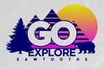 Sawtooth Mountains - Go Explore - Contour - Lantern Press Artwork