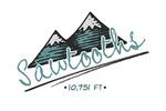 Sawtooth Mountains - Twin Peaks - Contour - Lantern Press Artwork