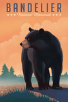 Bandelier National Monument, New Mexico - Black Bear - Litho - Lantern Press Artwork