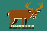 Bandelier National Monument, New Mexico - Mule Deer - Geometric Animal - Contour - Lantern Press Artwork