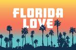 Florida Love - Palm Trees - Aqua Horizon - Lantern Press Artwork