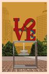 Philadelphia, Pennsylvania - Love Statue - Letterpress - Lantern Press Artwork