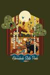 Adirondack State Park, New York - Forest Animals - Geometric - Contour - Lantern Press Artwork