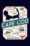 Plymouth, Massachusetts - Typography & Icons - Contour - Lantern Press Artwork