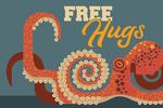 Octopus - Geometric - Free Hugs - Lantern Press Artwork