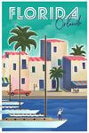 Orlando, Florida - Lithograph - Lantern Press Artwork