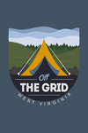 West Virginia - Off the Grid (Tent) - Vector Style - Rounded Hills - Contour - Lantern Press Artwork