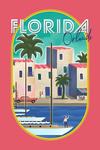 Orlando, Florida - Lithograph - Contour - Lantern Press Artwork