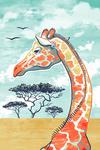 Graphic Pastel - Giraffe - Lantern Press Artwork