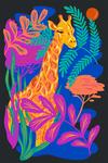 Lush Environment Collection - Giraffe and Foliage