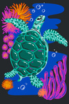 Lush Environment Collection - Sea Turtle and Foliage
