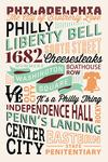 Philadelphia, Pennsylvania - Typography Stacked - Lantern Press Artwork