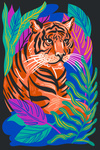 Lush Environment Collection - Tiger and Foliage