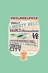 Philadelphia, Pennsylvania - Typography - Contour - Lantern Press Artwork
