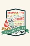 Camping Rules - Contour - Lantern Press Artwork