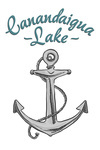 Canandaigua Lake, New York - Anchor Icon - Lantern Press Artwork