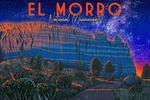 El Morro National Monument, New Mexico - Night Sky - Lantern Press Artwork