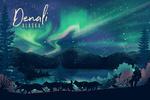 Alaska - Northern Lights & Sled Dogs - Lithograph - 2 - Lantern Press Artwork
