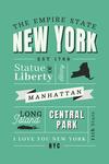 New York State - Typography Classic Series - Lantern press Artwork