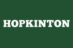 Hopkinton - White Letters - Green Background - Lantern Press Artwork