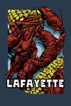 Lafayette, Louisiana - Crawfish & Corn - Scratchboard - Contour - Lantern Press Artwork