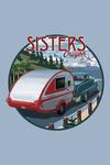 Sisters, Oregon - Retro Camper on Road - Contour - Lantern Press Artwork