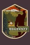 Wallace, Idaho - Home of Bigfoot - Contour - Lantern Press Artwork