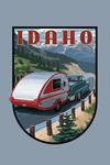 Idaho - Camper - Contour - Lantern Press Artwork