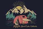Grand Lake, Colorado - Camping Scene - Lantern Press Artwork