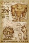 Jefferson, Texas - Bigfoot da Vinci - Lantern Press Artwork