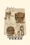 Jefferson, Texas - Bigfoot da Vinci - Contour - Lantern Press Artwork