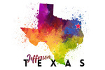 Jefferson, Texas - State Abstract Watercolor - Lantern Press Artwork