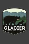 Glacier National Park, Montana - Bear & Cub - Family Time - Contour - Lantern Press Artwork