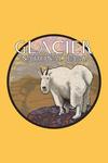 Glacier National Park, Montana - Mountain Goat - Contour - Lantern Press Artwork
